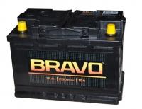 Аккумулятор Bravo 74 А EN 650A R+