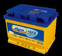 Аккумулятор АКОМ +EFB 60 А EN 560A L+