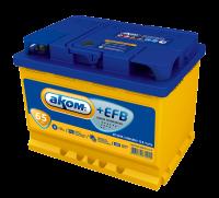 Аккумулятор АКОМ +EFB 65 А EN 650A L+