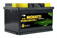 Аккумулятор Moratti 71 А EN 710A R+