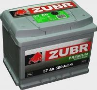 Аккумулятор ZUBR Premium 57 A EN 500 A R+