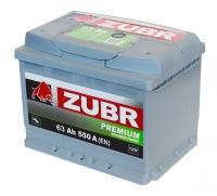 Аккумулятор ZUBR Premium 63 A EN 550 A L+